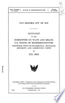 Tax Reform Act Of 1975