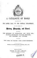 A Catalogue Of Books