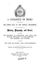 """A"" Catalogue of Books"