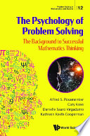 Psychology Of Problem Solving  The  The Background To Successful Mathematics Thinking