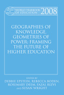 Geographies Of Knowledge Geometries Of Power