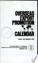 Overseas Trade Promotions Calendar