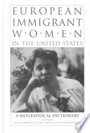European Immigrant Women In The United States