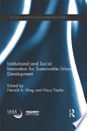 Institutional and Social Innovation for Sustainable Urban Development Book PDF