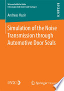 Simulation of the Noise Transmission through Automotive Door Seals