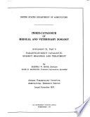 Index catalogue of Medical and Veterinary Zoology Book