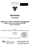 Advances In Tannin And Tannin Management Book PDF
