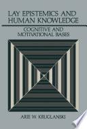Lay Epistemics And Human Knowledge Book PDF