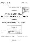 The Canadian Patent Office Record