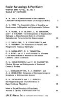 Soviet Neurology   Psychiatry Book
