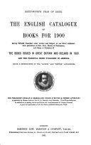 The English Catalogue of Books ...