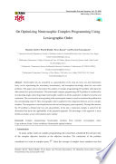 On Optimizing Neutrosophic Complex Programming Using Lexicographic Order