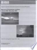 Mercury in precipitation in Indiana  January 2001December 2003 Book