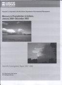 Mercury in precipitation in Indiana, January 2001December 2003