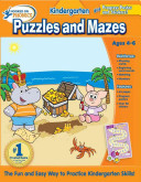 Hooked on Learning Kindergarten Puzzles and Mazes Workbook Book