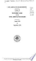 Economic Decisions of the Civil Aeronautics Board Book PDF