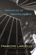Principles of Non Philosophy Book