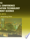 2013 International Conference On Advanced Education Technology And Management Science Aetms2013