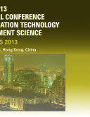 2013 International Conference on Advanced Education Technology and Management Science(AETMS2013)
