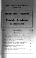 Quarterly Journal Of The Florida Academy Of Sciences