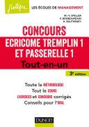 Concours Écricome Tremplin 1 et Passerelle 1 - 3e éd. Pdf/ePub eBook