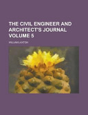 The Civil Engineer And Architect S Journal Volume 5