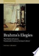 Brahms s Elegies