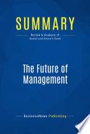 Summary: The Future of Management