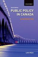 Public Policy in Canada