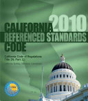 2010 California Referenced Standards Code