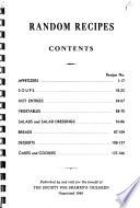 Random Recipes Book PDF