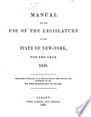 Manual for Use of the Legislature of the State of New York