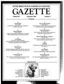 Pure-bred Dogs, American Kennel Gazette