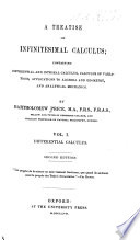 A Treatise on Infinitesimal Calculus: Differential calculus. 1857