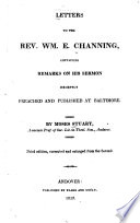 Letters to the Rev. Wm. E. Channing