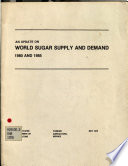 An Update on World Sugar Supply and Demand, 1980 and 1985
