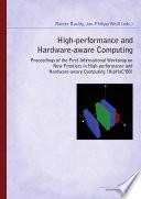 High Performance And Hardware Aware Computing Book PDF