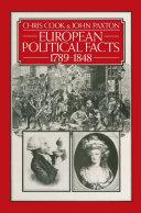 European Political Facts 1789   1848