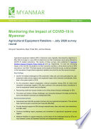 Monitoring the Impact of COVID 19 in Myanmar  Agricultural Equipment Retailers     July 2020 survey round