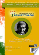 The International Journal Of Indian Psychology Volume 3 Issue 4 No 58