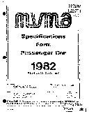 MVMA Specifications Form   Passenger Car  Monte Carlo   Malibu Classic   El Camino  1982