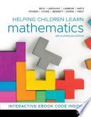 Helping Children Learn Mathematics Book