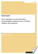 How managers can develop their Psychological Capital in case of Global Mindset development Book