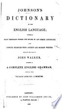 Dictionary Of The English Language  Book PDF