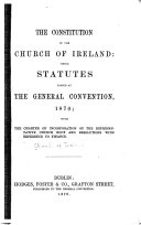 The Constitution of the Church of Ireland