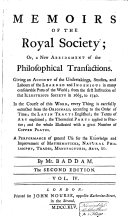 Memoirs of the Royal Society, Or a New Abridgment of the Philosophical Transactions from 1665 to 1740