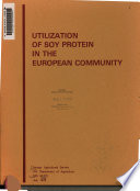 Utilization of Soy Protein in the European Community