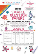 Oswaal Cbse Sample Question Papers Class 10 English Communicative For March 2019 Exam