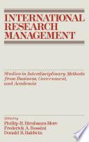 International Research Management