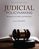 Judicial Policymaking